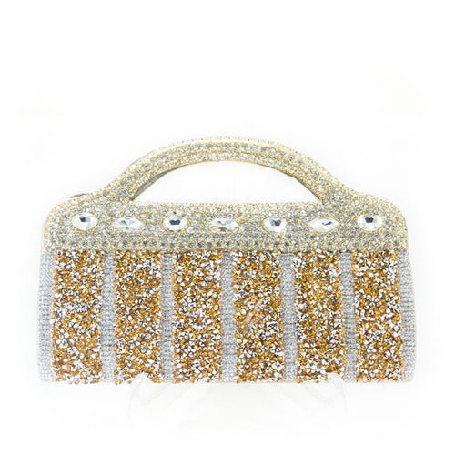 Bridal Purse Golden With Diamond & Stones – BPS-116 - Ladies Purse - diKHAWA Online Shopping in Pakistan