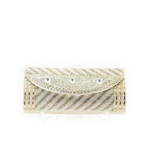 Bridal Purse Golden With Diamond & Stones – BPS-113 - Ladies Purse - diKHAWA Online Shopping in Pakistan