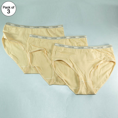 Pack of 3 Ck Basic Panty Skin - Soft Cotton Stretchable Jersey Panty