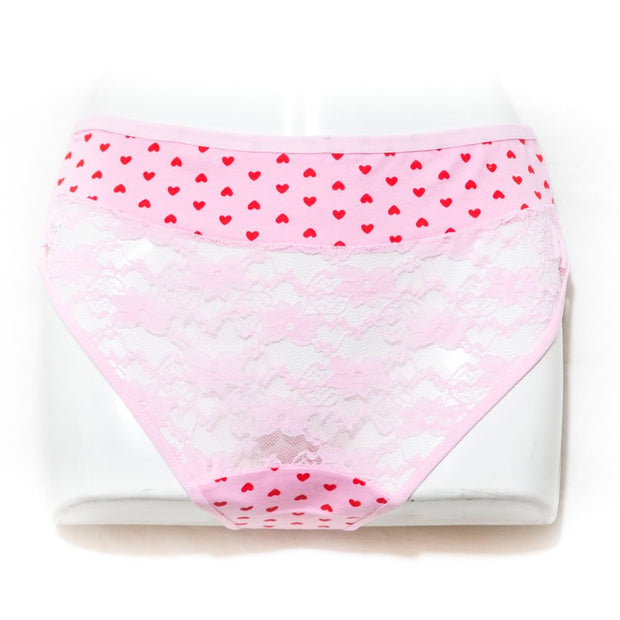 Pack of 2 Balbina Net Cotton Panty – Heart Panty - Mix Colours - Panty - diKHAWA Online Shopping in Pakistan