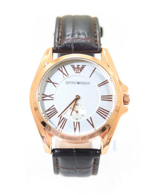 Armani Men Watch With Golden Dial & Brown Belt – WL-5904B