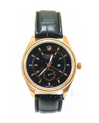 Rolex Mens Watches With Rose Gold Dial & Black Belt – WL-5911B - Mens Watches - diKHAWA Online Shopping in Pakistan
