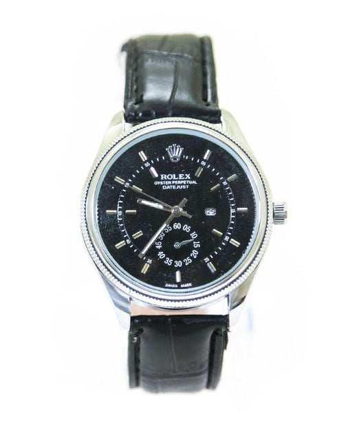 Rolex Mens Watches With Silver Dial & Black Belt – WL-5912B - Mens Watches - diKHAWA Online Shopping in Pakistan