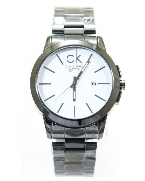 Ck Calvin Klein Mens Watches With White Dial & Black Chain – WL-4024 - Mens Watches - diKHAWA Online Shopping in Pakistan