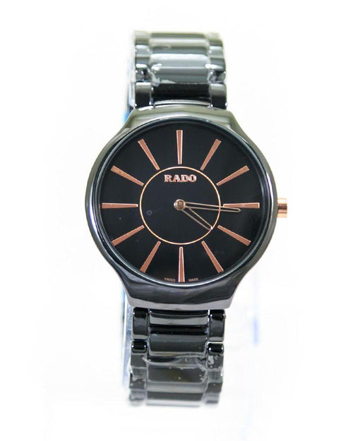 Rado Mens Watches Black Dial & Black Chain – Slim Watch – MWS-213C - Mens Watches - diKHAWA Online Shopping in Pakistan
