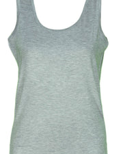 Plain Stretchable Camisole For Women - Light Grey Color - 830