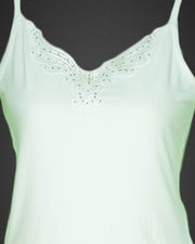 Embroidered Camisole For Women - Adjustable Straps - Color White - 2814