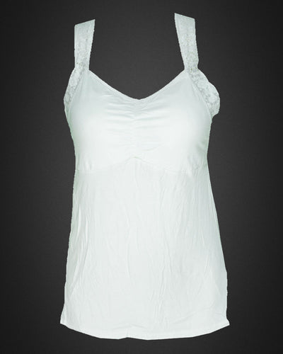 Ladies Camisole Padded With Lace - Color White - 3051