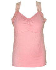 Ladies Camisole Padded With Lace - Color Pink - 3051