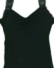 Ladies Camisole Padded With Lace - Color Black - 3051