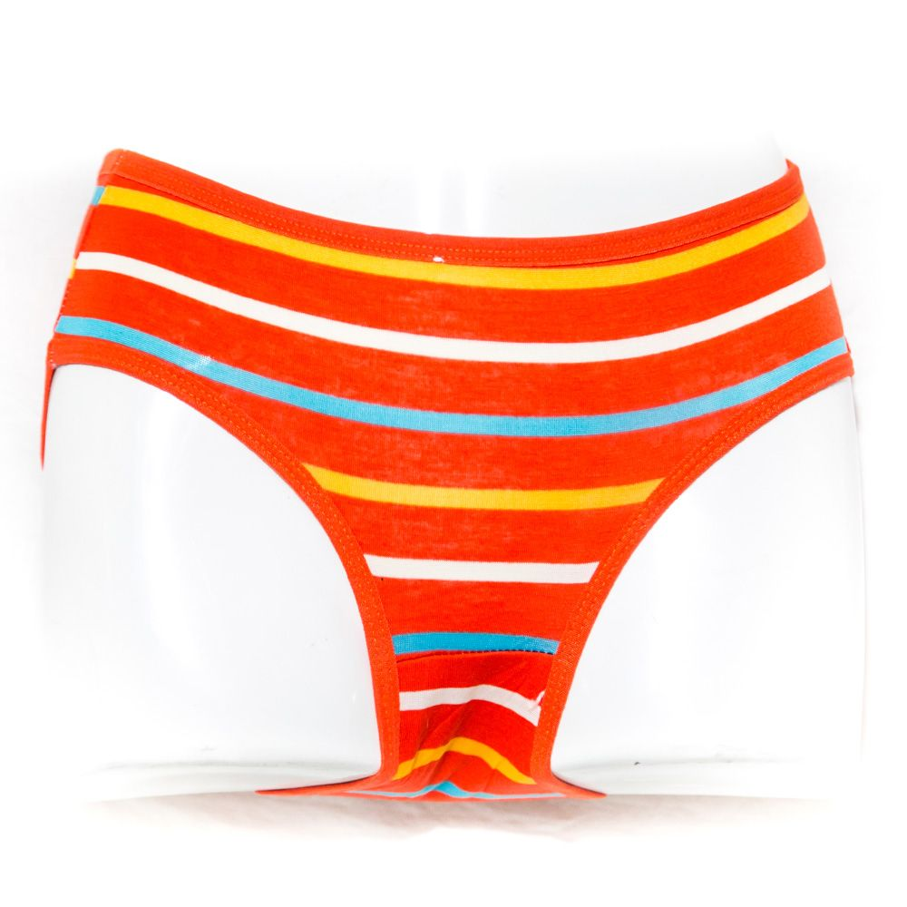 Pack of 3 Cotton Jersey Panty - Colour Stripes Panty - Mix Colour - Panty - diKHAWA Online Shopping in Pakistan