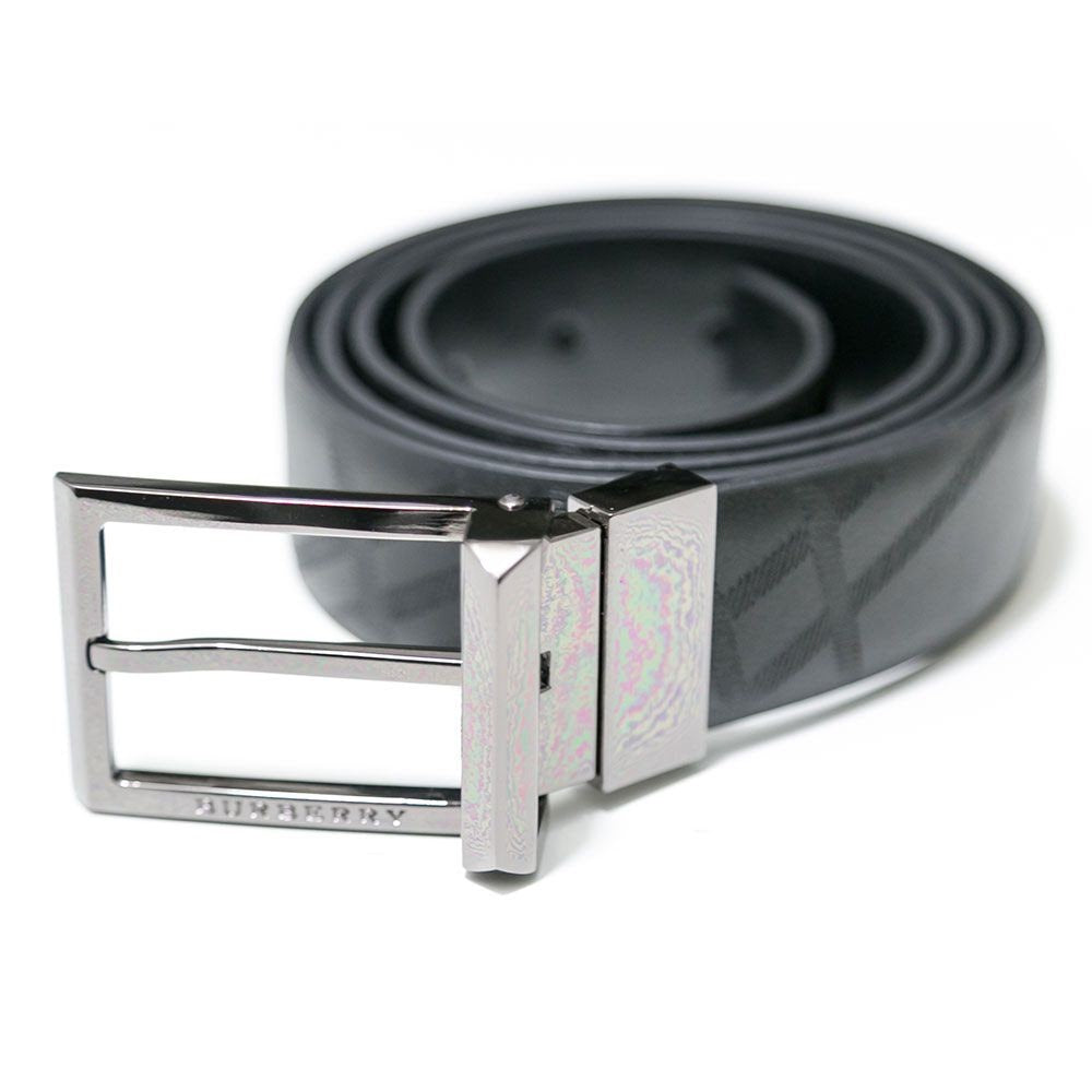 Burberry Reversible Black Leather Belt For Men - Belts - diKHAWA Online Shopping in Pakistan