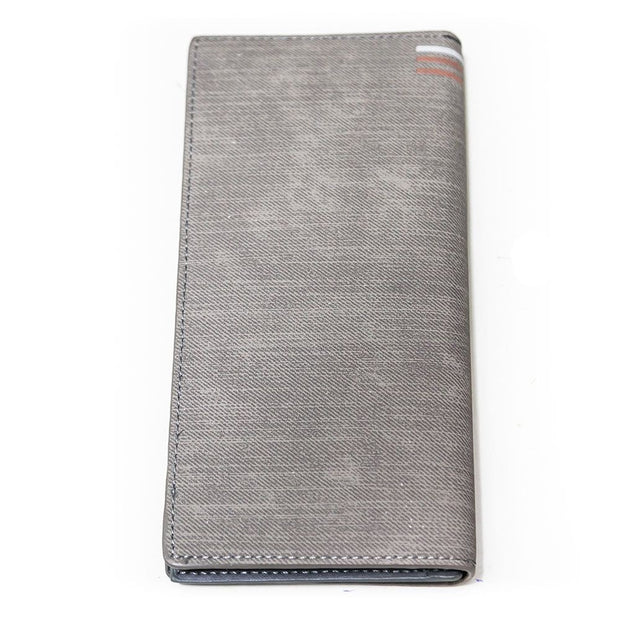 Bovi's Silver Leather Mens Card Wallet - Travel Wallets - Mens Card Wallets - diKHAWA Online Shopping in Pakistan