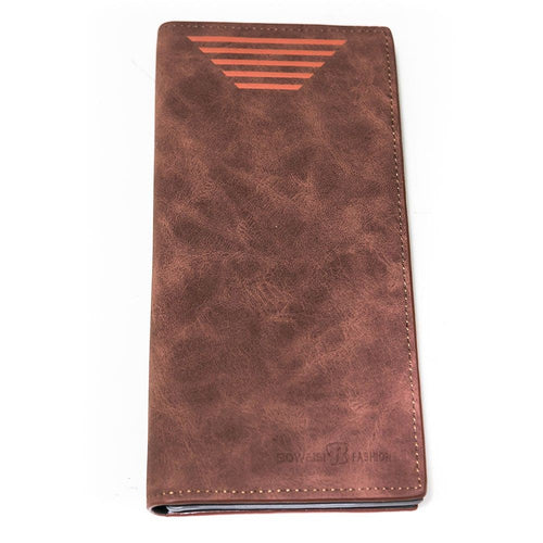 Bovi's Brown Texture Leather Mens Card Wallet - Travel Wallets - Mens Card Wallets - diKHAWA Online Shopping in Pakistan