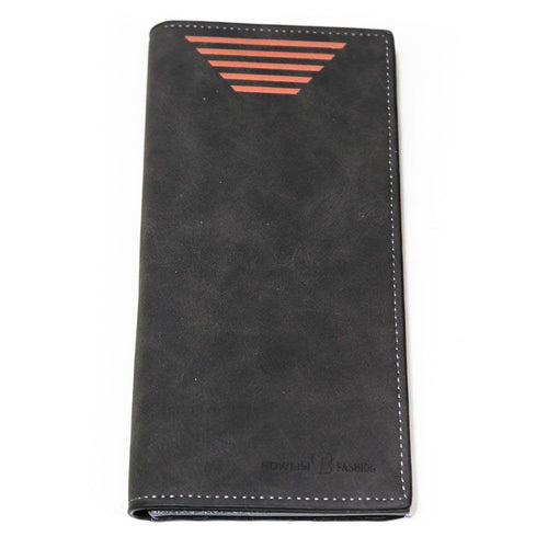 Fashion Bovi's Grey Leather Mens Card Wallet - Travel Wallets - Mens Card Wallets - diKHAWA Online Shopping in Pakistan
