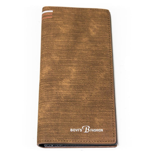 Bovi's Wooden Leather Stylish Mens Card Wallet - Travel Wallets - Mens Card Wallets - diKHAWA Online Shopping in Pakistan