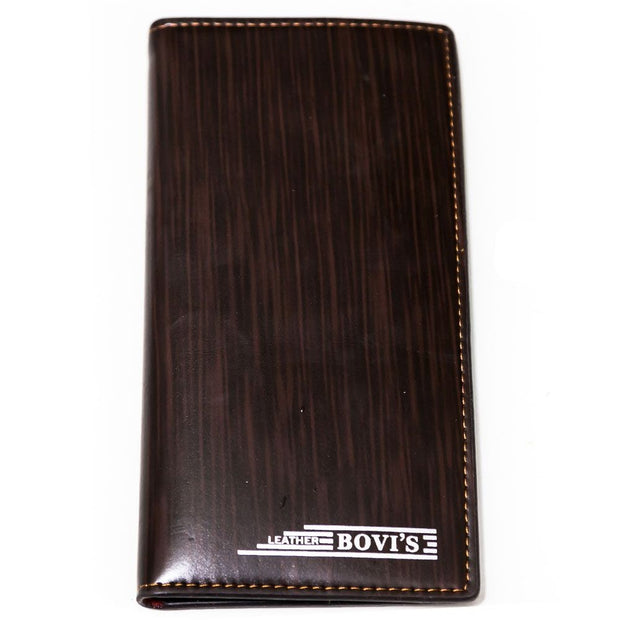 Bovi's Brown Shining Leather Mens Card Wallet - Travel Wallets - Mens Card Wallets - diKHAWA Online Shopping in Pakistan