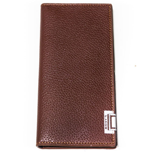 Bovi's Brown Leather Mens Card Wallet - Travel Wallets - Mens Card Wallets - diKHAWA Online Shopping in Pakistan