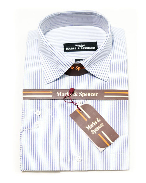 Formal Strips Cotton Shirts for Men - Mark & Spencer Men's Dress Shirts