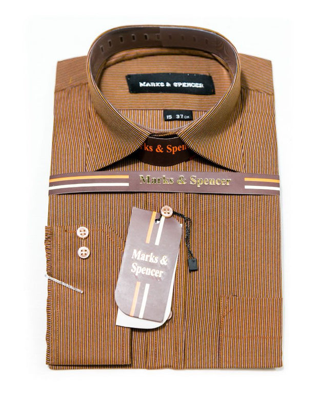 Mens Shirts Online Shopping in Pakistan. For Rs. Rs.599.00, ID - DK200528-S, Brand = Mark & Spencer, Formal Strips Cotton Shirts for Men - Mark & Spencer Men's Dress Shirts in Karachi, Lahore, Islamabad, Pakistan, Online Shopping in Pakistan, Brand_Mark & Spencer, Clothing, Content_Family, Cotton Shirts, Dress Shirts, Formal Shirts, Gender_Men, Material_Cotton, Men, Men Fashion, Mens Shirts, Mens Western Clothing, Office Shirts, Polyester Shirts, Shirts, Size_15, Strip Shirts, Style_Cotton Shirts, Style_Dress Shirts, Style_Formal Shirts, Style_Office Shirts, Type_Clothing, Type_Men, Type_Shirts, Type_Western Clothing, diKHAWA Fashion - 2020 Online Shopping in Pakistan