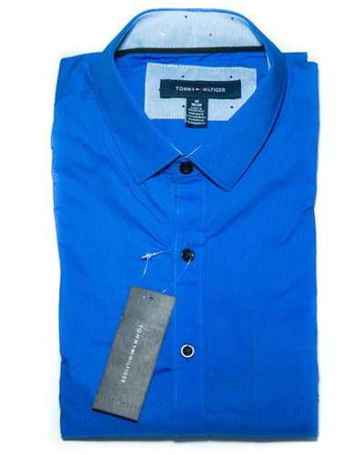 Mens Cotton Plain Shirt - Dress Shirts By Tommy Hilfiger