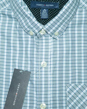 Mens Cotton Checkered Shirt - Casual Shirts By Tommy Hilfiger