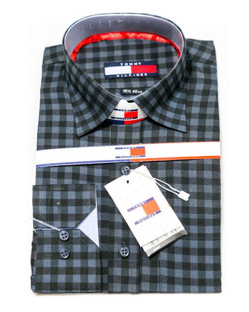 Formal Check Shirt Shirts for Men - Tommy Hilfiger Men's Dress Shirts