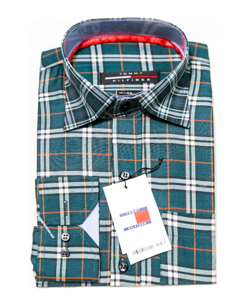 Cotton Check Shirts for Men - Tommy Hilfiger Men's Dress Shirts
