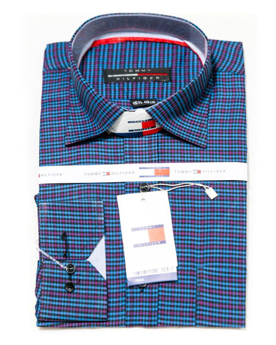 Cotton Check Shirts for Men - Tommy Hilfiger Men's Dress Shirts - Men Shirts - diKHAWA Online Shopping in Pakistan