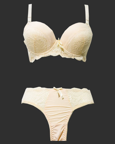 Bridal Pushup Plus Size Bra Panty Sets - Single Padded Underwired Bra Panty Sets - BS1002 - Bra Panty Sets - diKHAWA Online Shopping in Pakistan