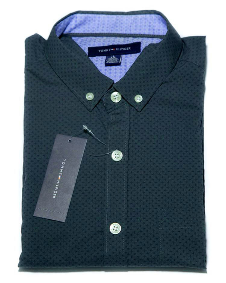 35175d55e Buy Mens Cotton Dark Grey Printed Shirt - Casual Shirts By Tommy Hilfiger  Online in Karachi ...