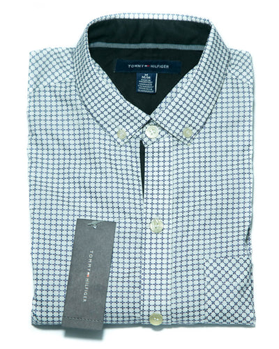 Mens Cotton White Printed Shirt - Casual Shirts By Tommy Hilfiger