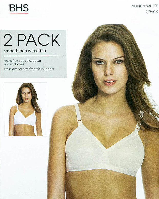 BHS Pack of 2 Underwired Bra With Cotton - 230284 - Non Padded Bra