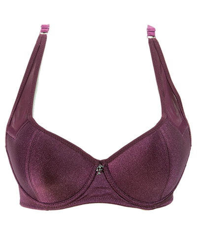 Maroon Fancy Flourish Bra - Single Padded Underwired Bra - FL2031