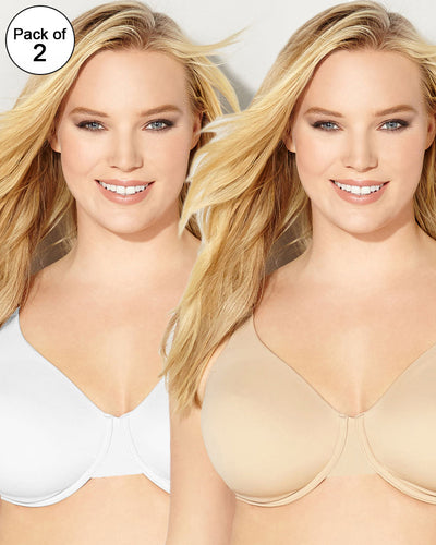 BHS Pack of 2 Underwired Non-Padded Full Cup Plus Size Cotton Bra - 230448