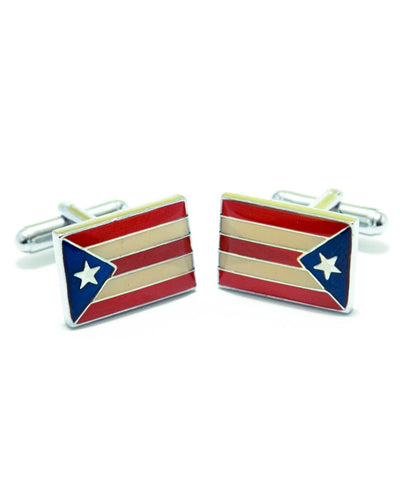 Puerto Rico Flag Cufflinks For Man's