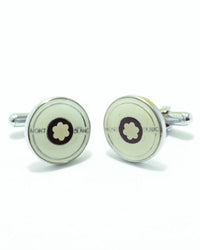 Mont Blanc Mens Cufflinks – Branded Mens Cufflinks - Rounded Flower Shape