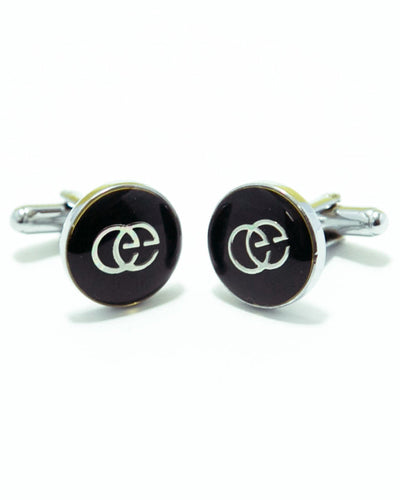 Gucci Mens Cufflinks – Branded Mens Cufflinks - Black Rounded Stone