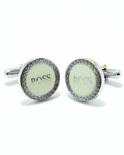 Boss Mens Cufflinks – Branded Mens Cufflinks -  Rounded