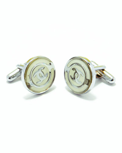 Silver With Yellow Gucci Mens Cufflinks – Best Mens Cufflinks -  Round Shaped