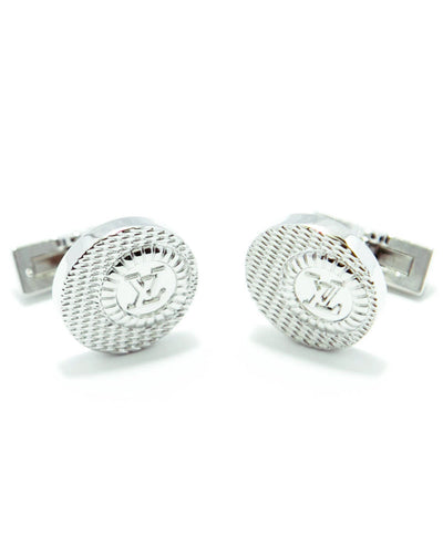 LV - Louis Vuitton Mens Metal Cufflinks – Best Mens Cufflinks -  Round Shaped