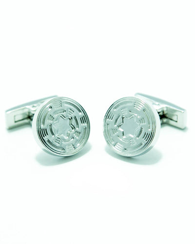 Star Shaped Sterling Silver Cufflink For Men – Best Mens Cufflinks -  Round Shaped
