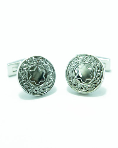 Star Shaped Sterling Silver Mens Cufflink – Best Mens Cufflinks -  Round Shaped