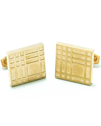 Antique Cufflinks For Mens Wedding Shirt – Square Shaped – Golden