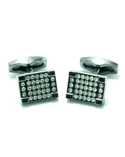 Rectangle Shaped Diamond Cufflinks For Mens Wedding Shirt