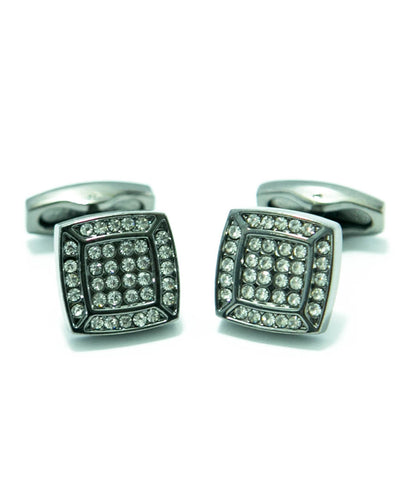 Square Shaped Diamond Cufflinks For Mens Wedding Shirt