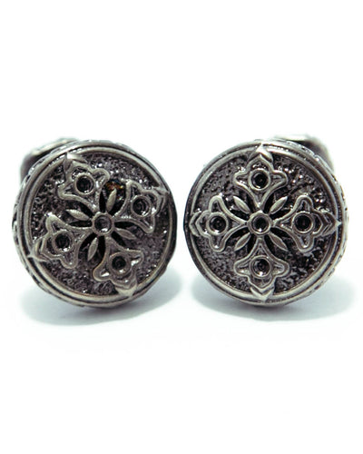 Stylish Fancy Design Cufflinks For Men - Round Shaped