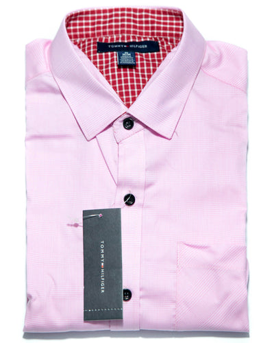 Mens Cotton Pink Lining Shirts - Casual Shirts By Tommy Hilfiger