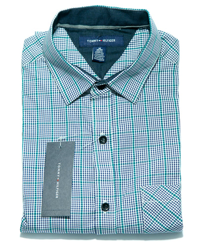 Mens Blue Dotted Shirts - Casual Shirts By Tommy Hilfiger