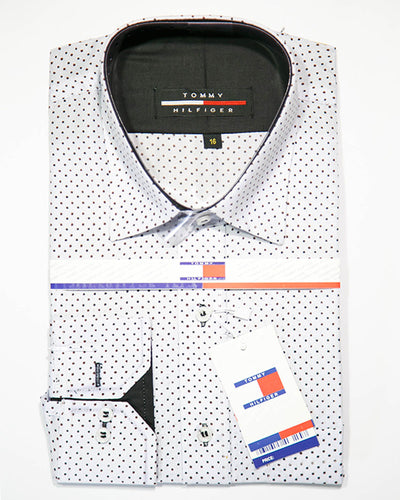 Mens Polka Dotted Casual Dress Shirts By Tommy Hilfiger
